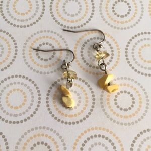 🌸3for$15 Yellow Stone Earrings